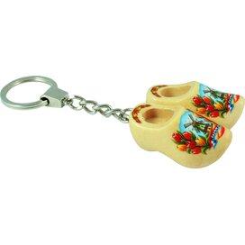 Keychain 2 shoes, varnished tulip