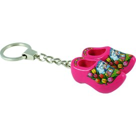 Keychain 2 shoes, pink kissing couple