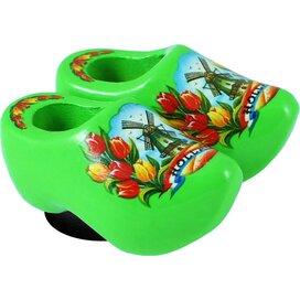 Magnet 2 shoes 4 cm, lime tulip