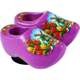 Magnet 2 shoes 4 cm, purple tulip