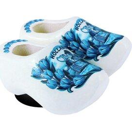 Magnet 2 shoes 4 cm, delft blue kissing couple