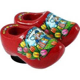 Magnet 2 shoes 4 cm, red kissing couple