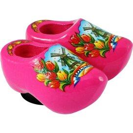 Magnet 2 shoes 4 cm, pink tulip