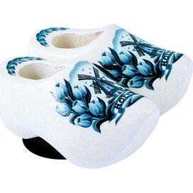 Magnet 2 shoes 4 cm, delft blue tulip