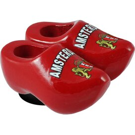 Magnet 2 shoes 4 cm, red Amsterdam