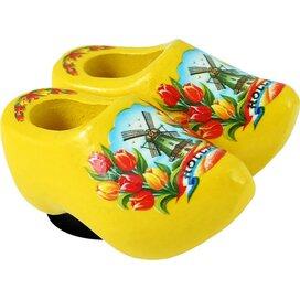 Magnet 2 shoes 4 cm, yellow tulip