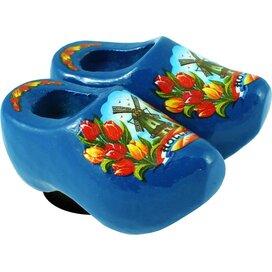 Magnet 2 shoes 4 cm, blue tulip
