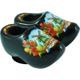 Magnet 2 shoes 4 cm, black tulip