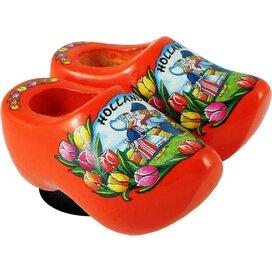 Magnet 2 shoes 4 cm, orange kissing couple