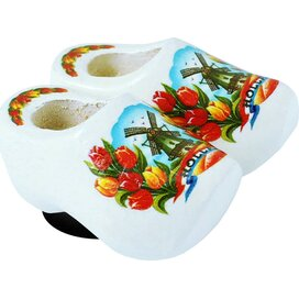 Magnet 2 shoes 4 cm, white tulip