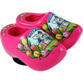 Magnet 2 shoes 4 cm, pink kissing couple
