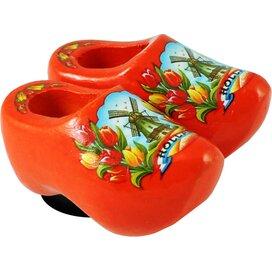 Magnet 2 shoes 4 cm, orange tulip