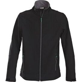 Heren printer trial softshell jacket zwart