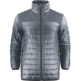 Heren printer expedition jacket staalgrijs