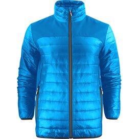 Heren printer expedition jacket oceaanblauw