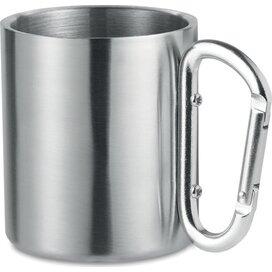 Dubbelwandige mok Trumbo mat zilver