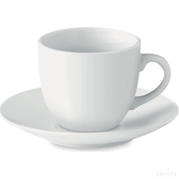 Kop en schotel 80 ml Espresso wit