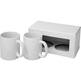 Ceramic mok 2 delige geschenkset Wit