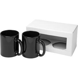 Ceramic mok 2 delige geschenkset Zwart