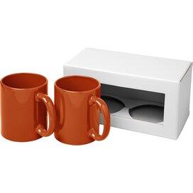 Ceramic mok 2 delige geschenkset Oranje