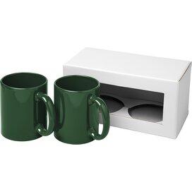 Ceramic mok 2 delige geschenkset Groen