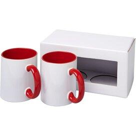 Ceramic sublimatie mok 2 delige geschenkset Rood