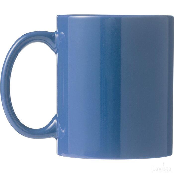 Ceramic mok 4 delige geschenkset blauw