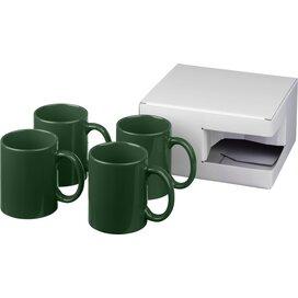 Ceramic mok 4 delige geschenkset Groen