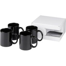 Ceramic mok 4 delige geschenkset Zwart