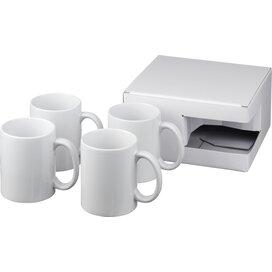 Ceramic mok 4 delige geschenkset Wit