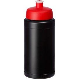 Baseline® Plus 500 ml drinkfles met sportdeksel Zwart,Rood