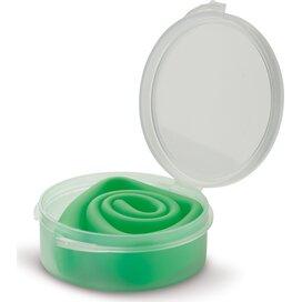Herbruikbaar siliconen rietje in kunststof doosje Licht Groen