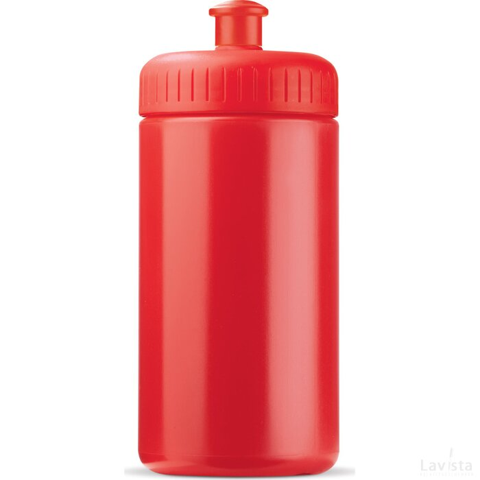 Sportbidon basic 500ml Rood