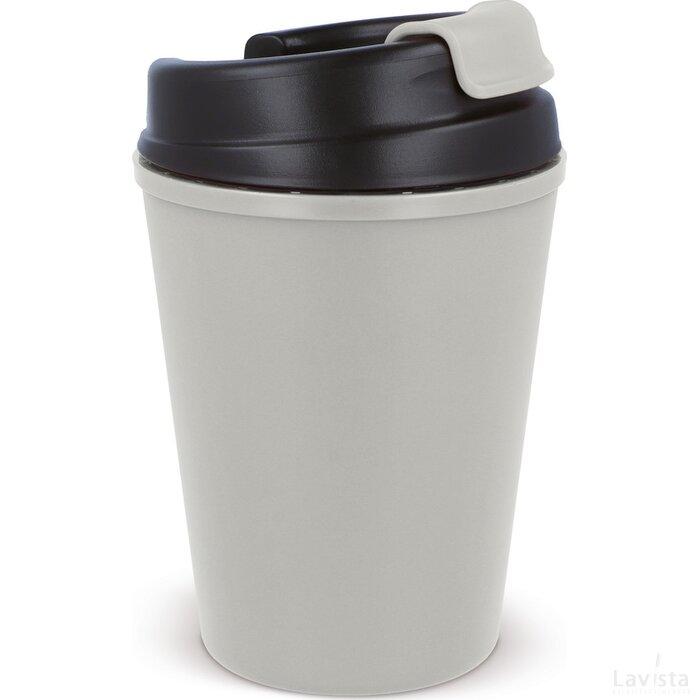 Thermo koffiebeker kunststof 350ml Licht Grijs