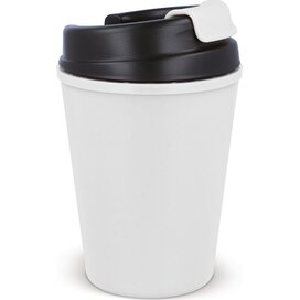 Thermo koffiebeker kunststof 350ml Wit