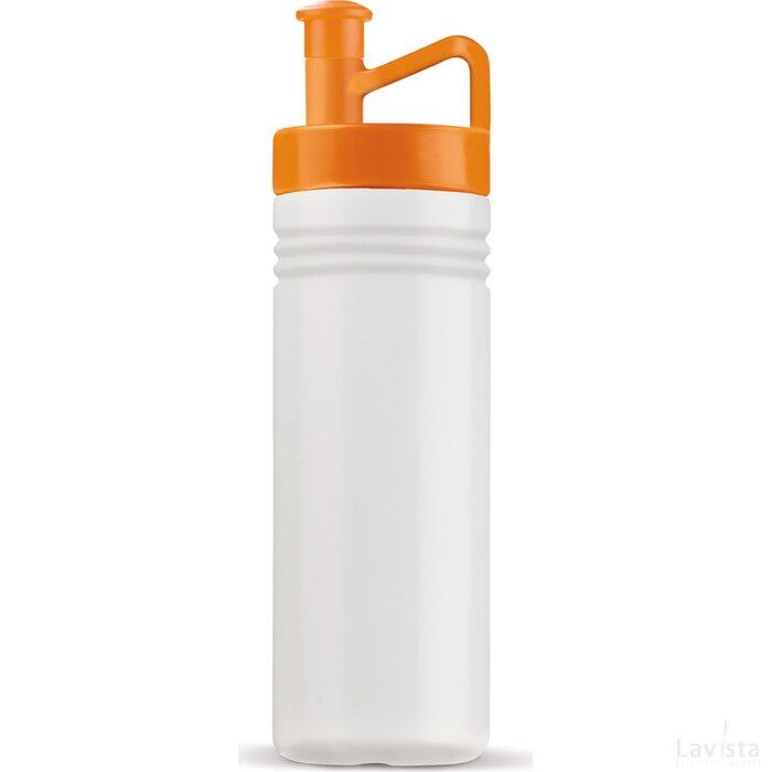 Sportbidon ergonomisch 500ml Transparant Oranje