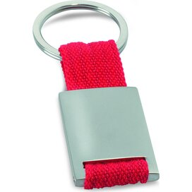 Metalen sleutelhanger Tech Rood