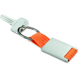 Metalen sleutelhanger Tech Oranje