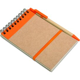 A6 notitieblok en balpen Sonora Oranje