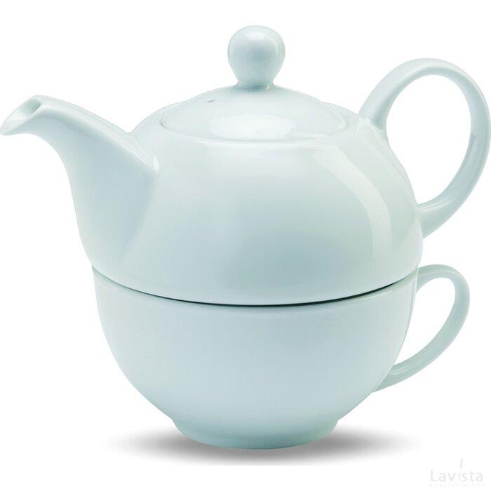 Theepot met kopje Tea Time Wit