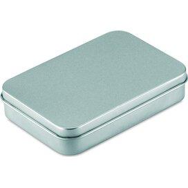 Speelkaarten in blikken doosje Amigo zilver