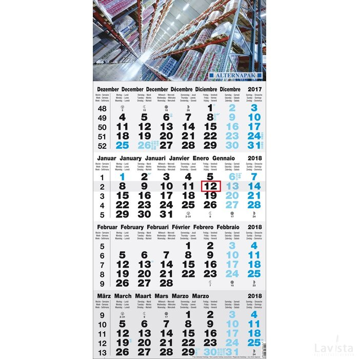 Weekplanning 2016   4-maands kalender Budget