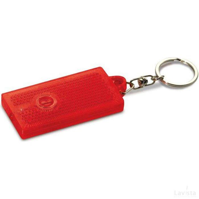 Reflecterende sleutelhanger Alicante rood
