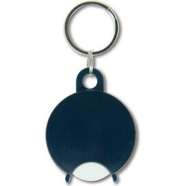 Sleutelhanger met winkelwagenmuntje Almeria donkerblauw