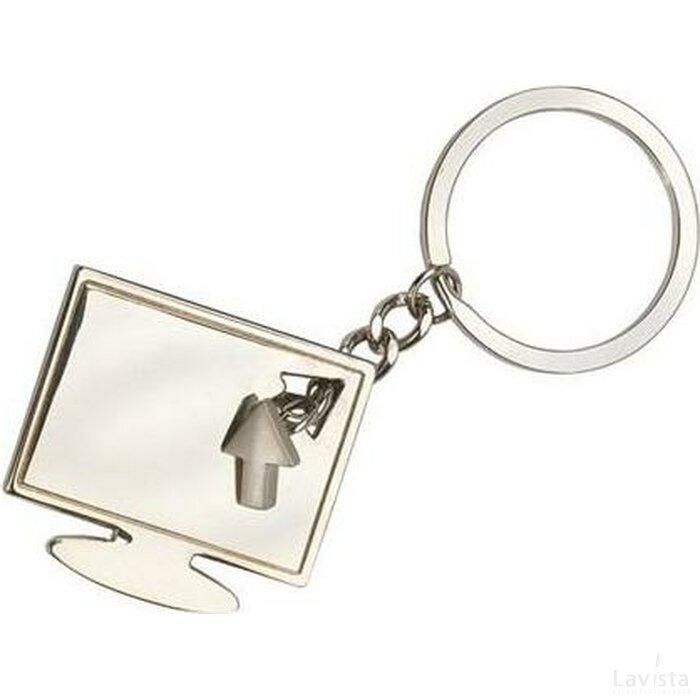 Sleutelhanger Buxton zilver