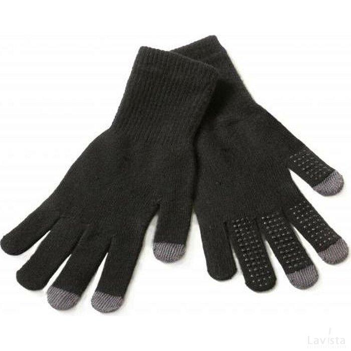 PDA tekst handschoenen met stippen zwart