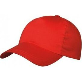 Brushed 5 Panel Kids Cap rood