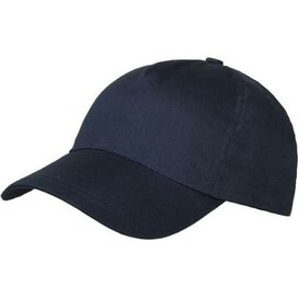 Brushed 5 Panel Kids Cap zwart