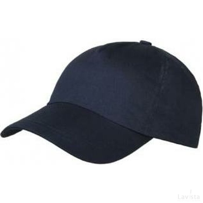Brushed 5 Panel Kids Cap donker blauw