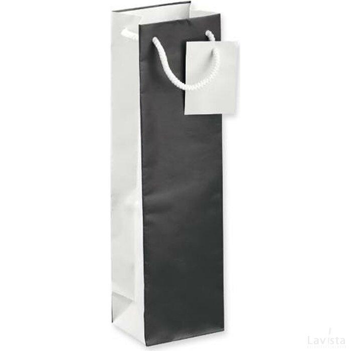 Wijntas Leona voor 1 fles zwart